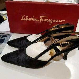 Salvatore Ferragamo fabric shoe